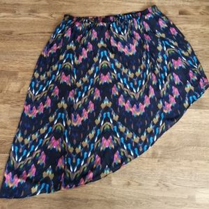 Jessica Simpson Colorful Assymetric Skirt 2X NWT…